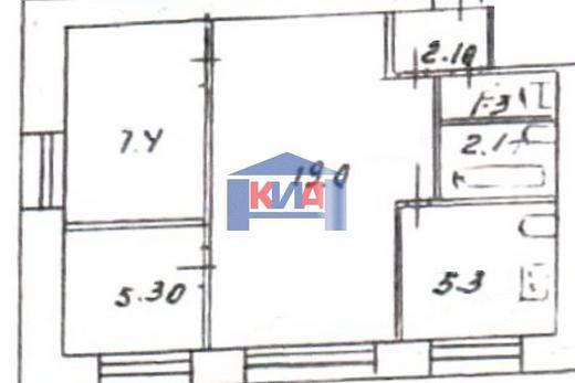 2-комнатная квартира, 43,1 м² в Красноярске